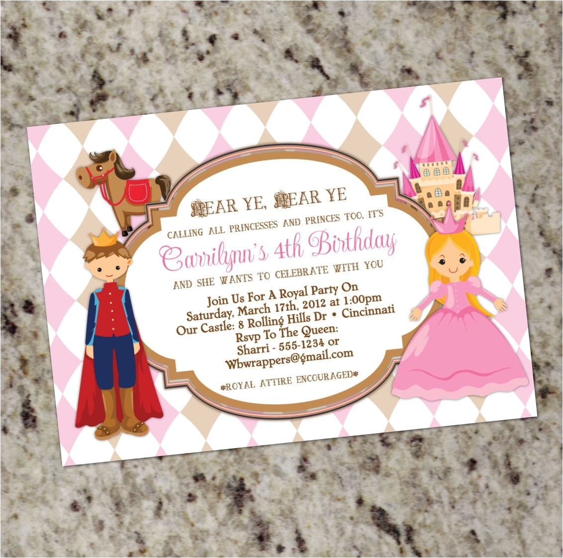 princess and prince birthday party