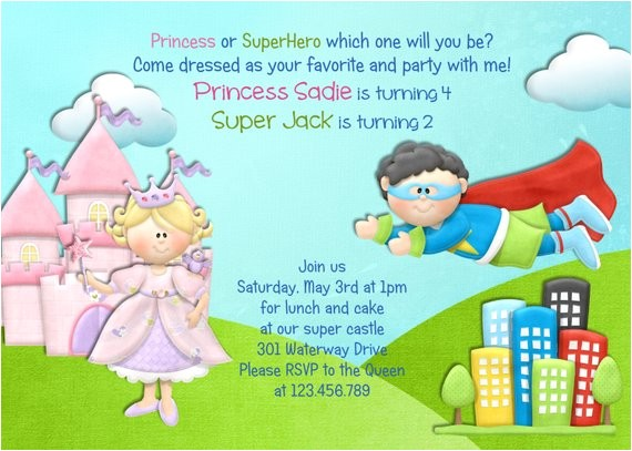 princess and superhero birthday