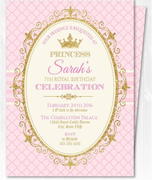 princess invitation
