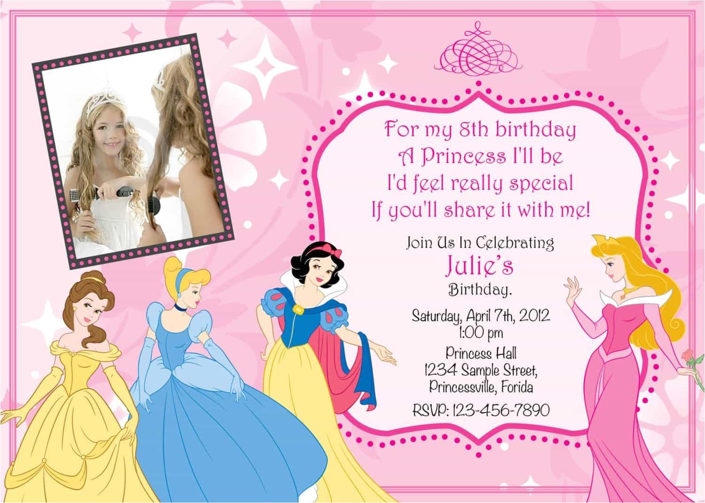 unique ideas for princess birthday invitations