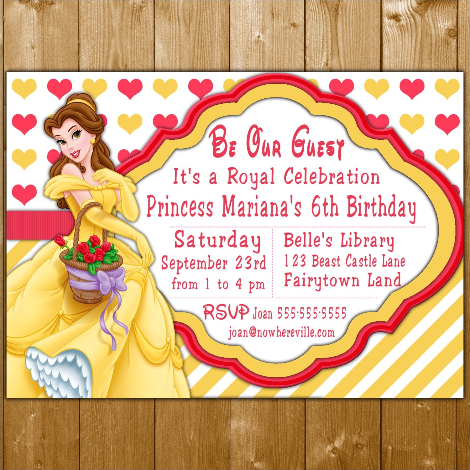 belle invitation disney princess belle party invitations belle invite for a girl