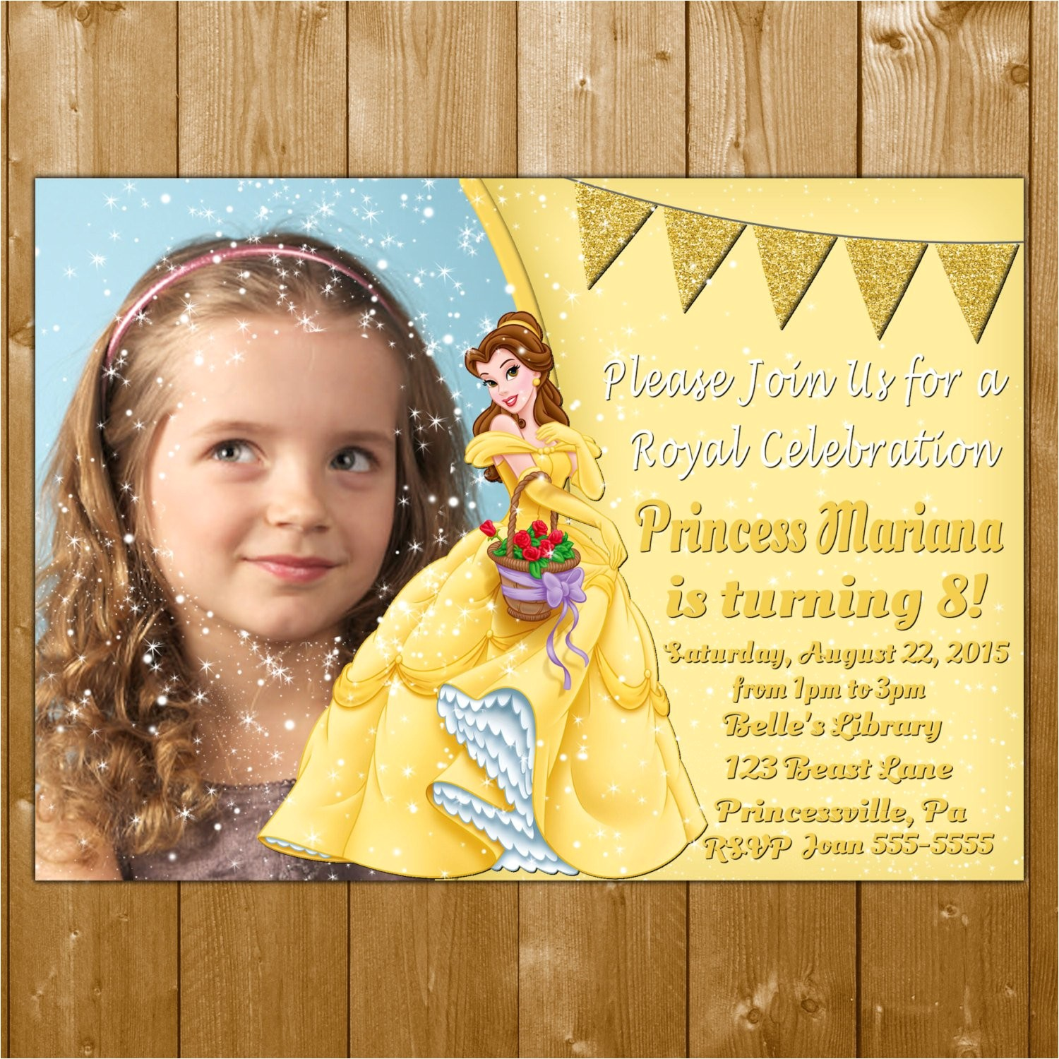belle invitation princess belle