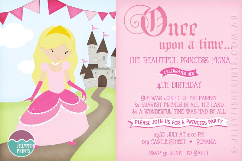 princess birthday party invitations wording