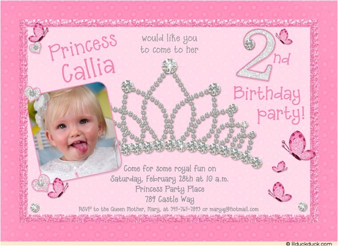 princess dress up pampering invitation