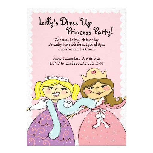 princess dress up themed birthday party invites 161782957352618045