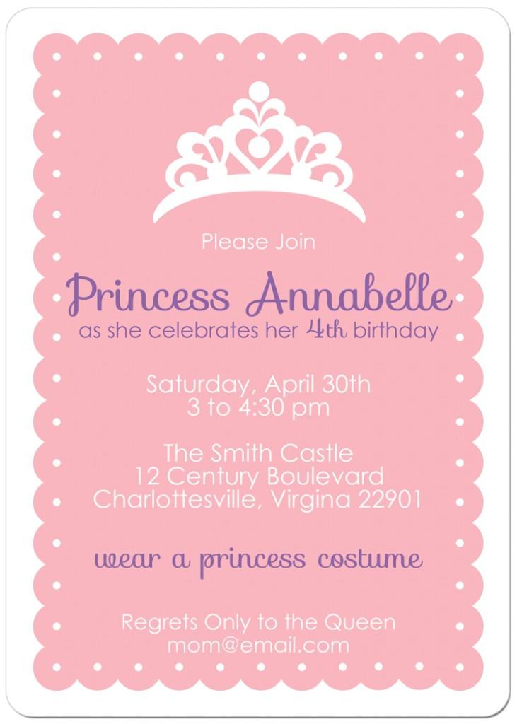 post free printable princess invitation template 241607