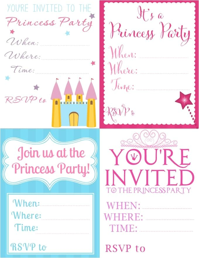 free printable princess party invitation ideas