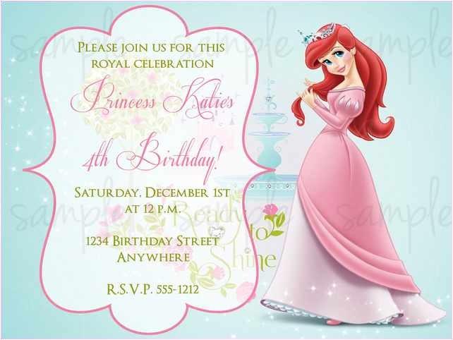 1st birthday princess invitation wording