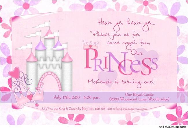 flower princess birthday invitation