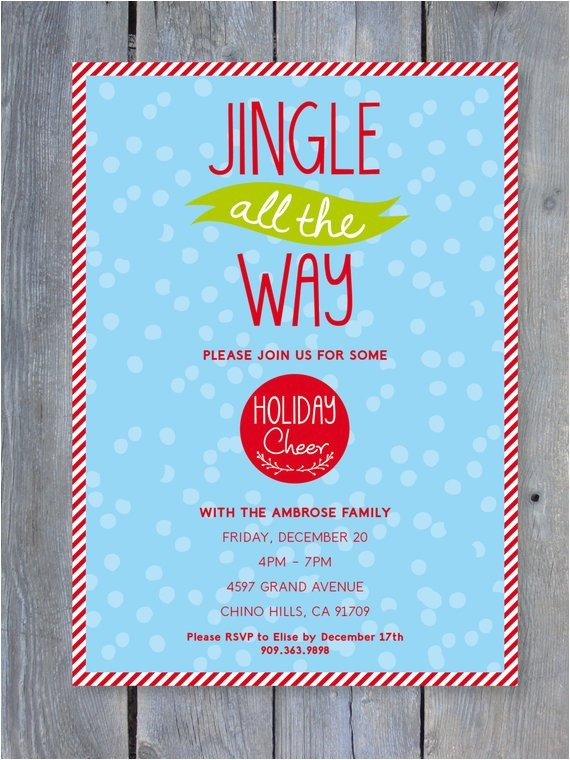 christmas party invitation printable file 7x5