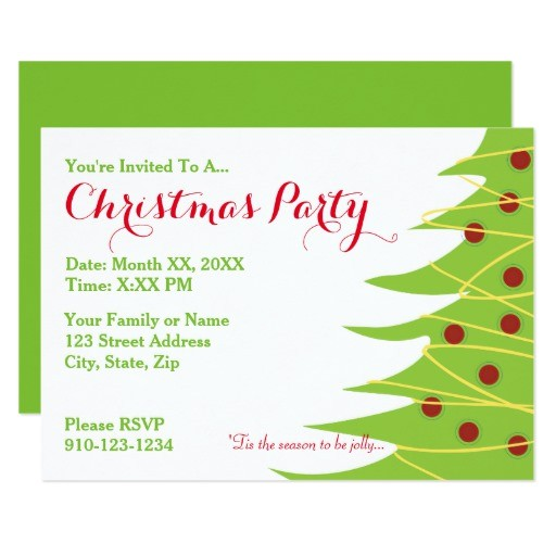 Print Your Own Christmas Party Invitations Create Your Own Christmas Party Invitation Zazzle