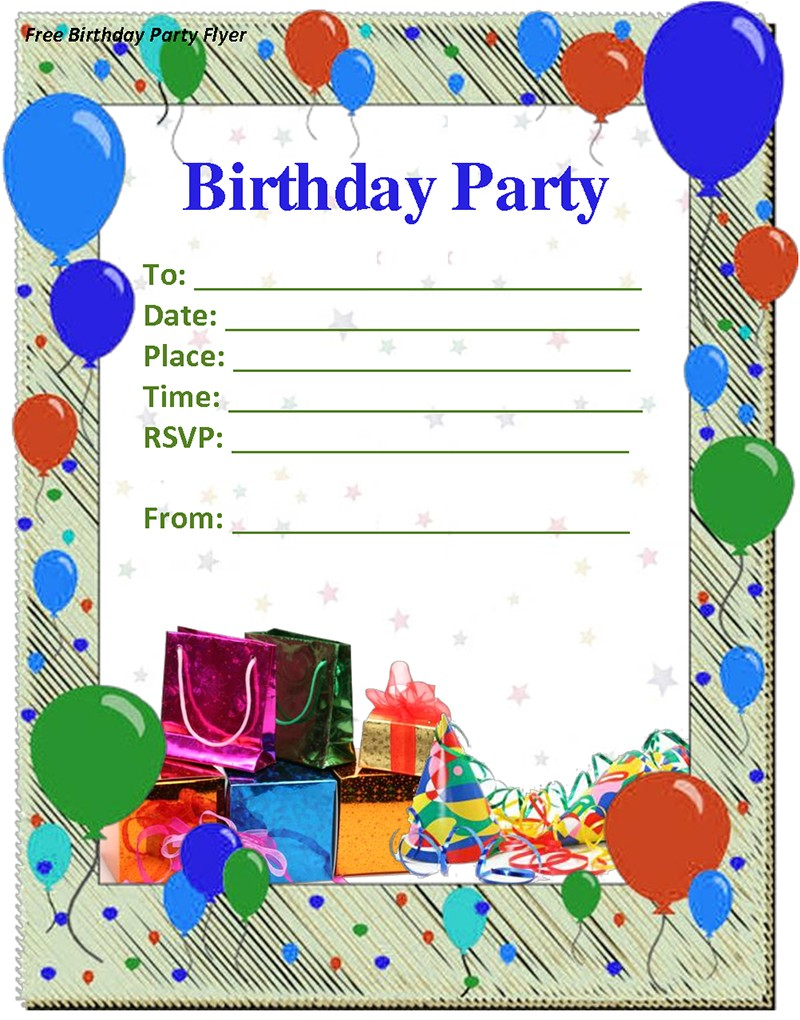Printable Birthday Party Invitations for 12 Year Old Boy Birthday Invitation Templates Free Invitation Ideas
