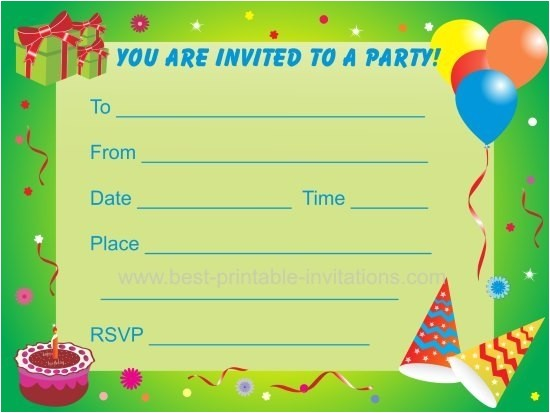 printable boy birthday party invitations