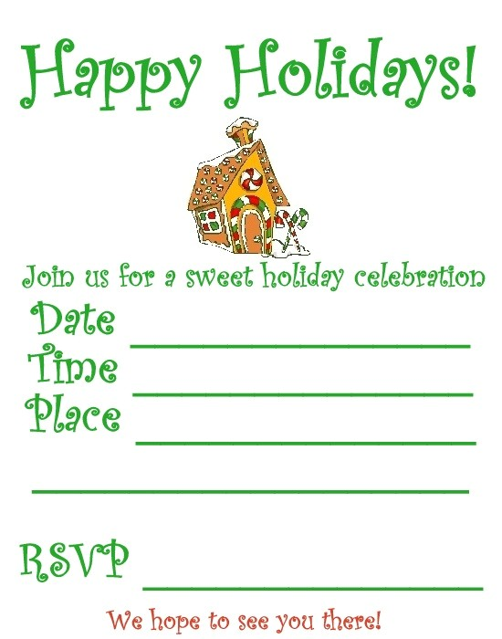 post christmas party invitation printable 191708