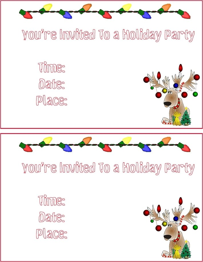 christmas invitation templates free template