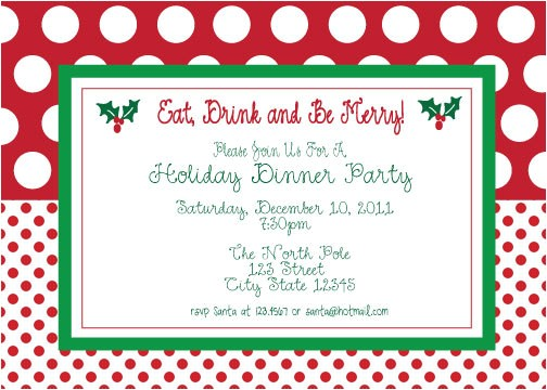 free printable christmas party invitations template