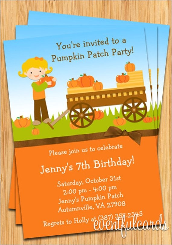 kids fall pumpkin patch birthday party
