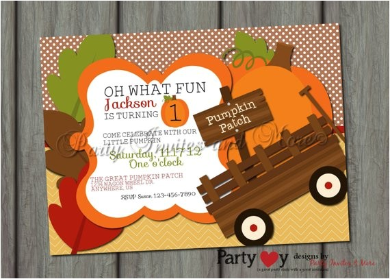 pumpkin birthday invitation pumpkin