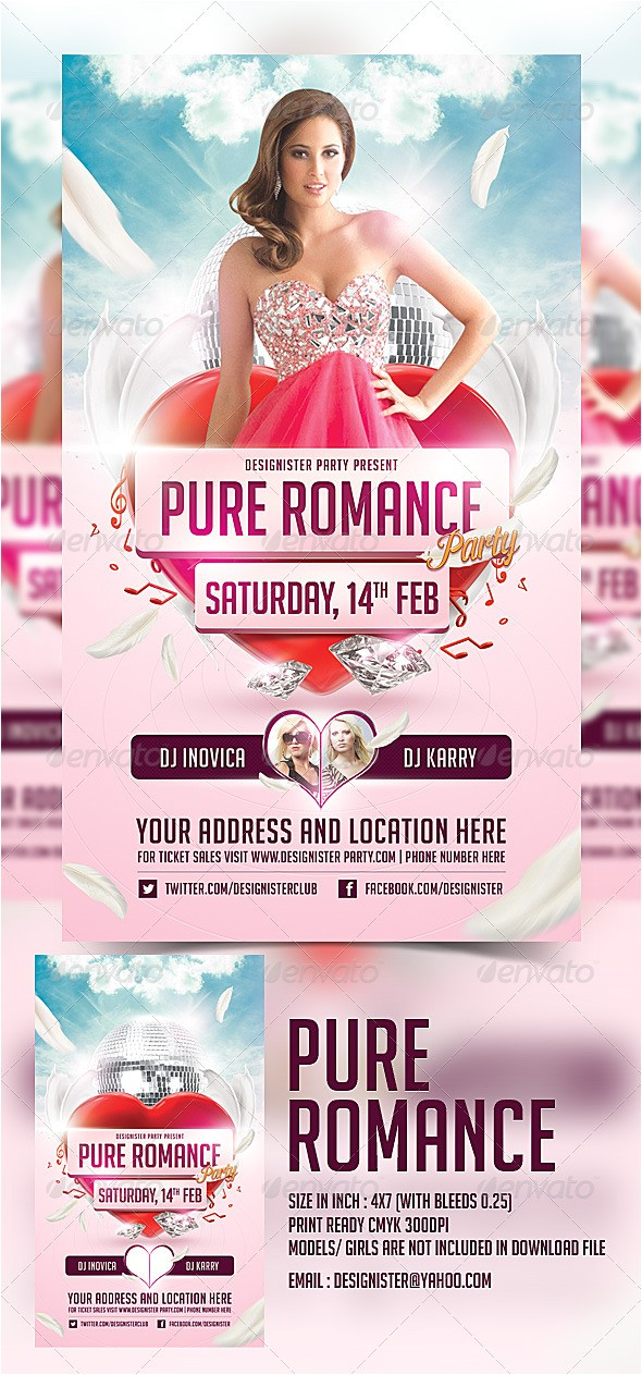 free pure romance invitation templates