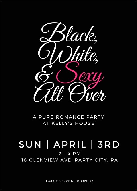 pure romance party invite