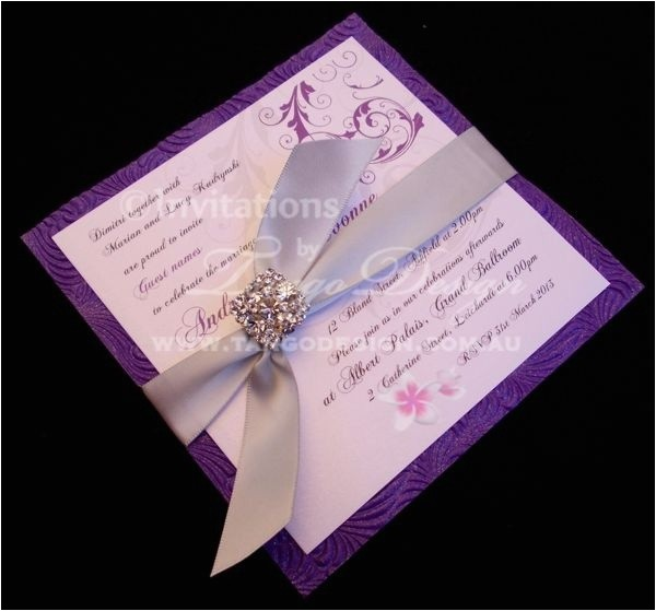 purple rain wedding ideas invitations