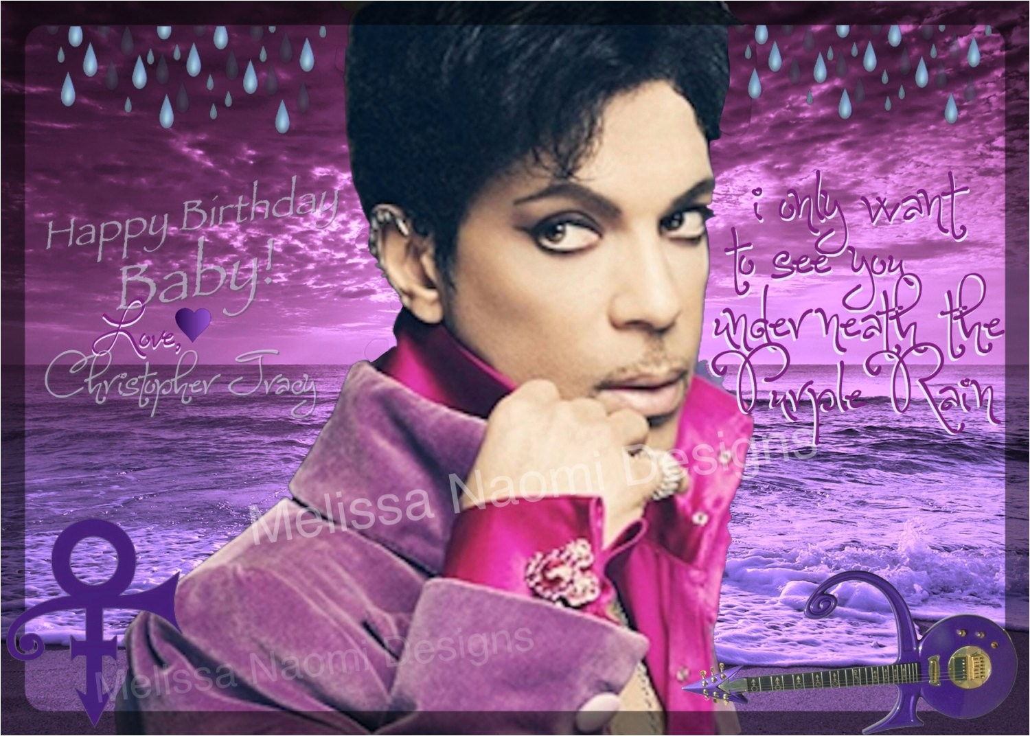 prince purple rain card prince party