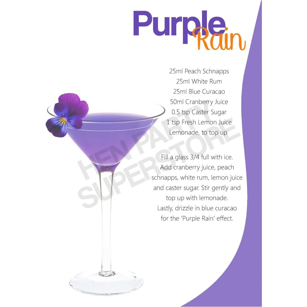 purple rain hen party cocktail p7036