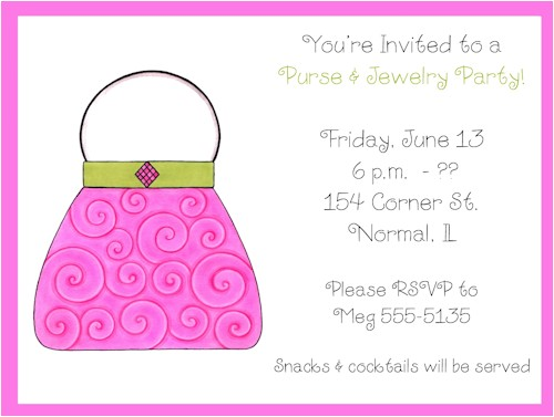 how to create jewelry party invitation