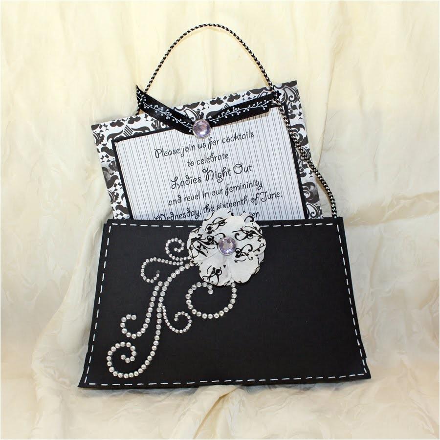 purse invitation template