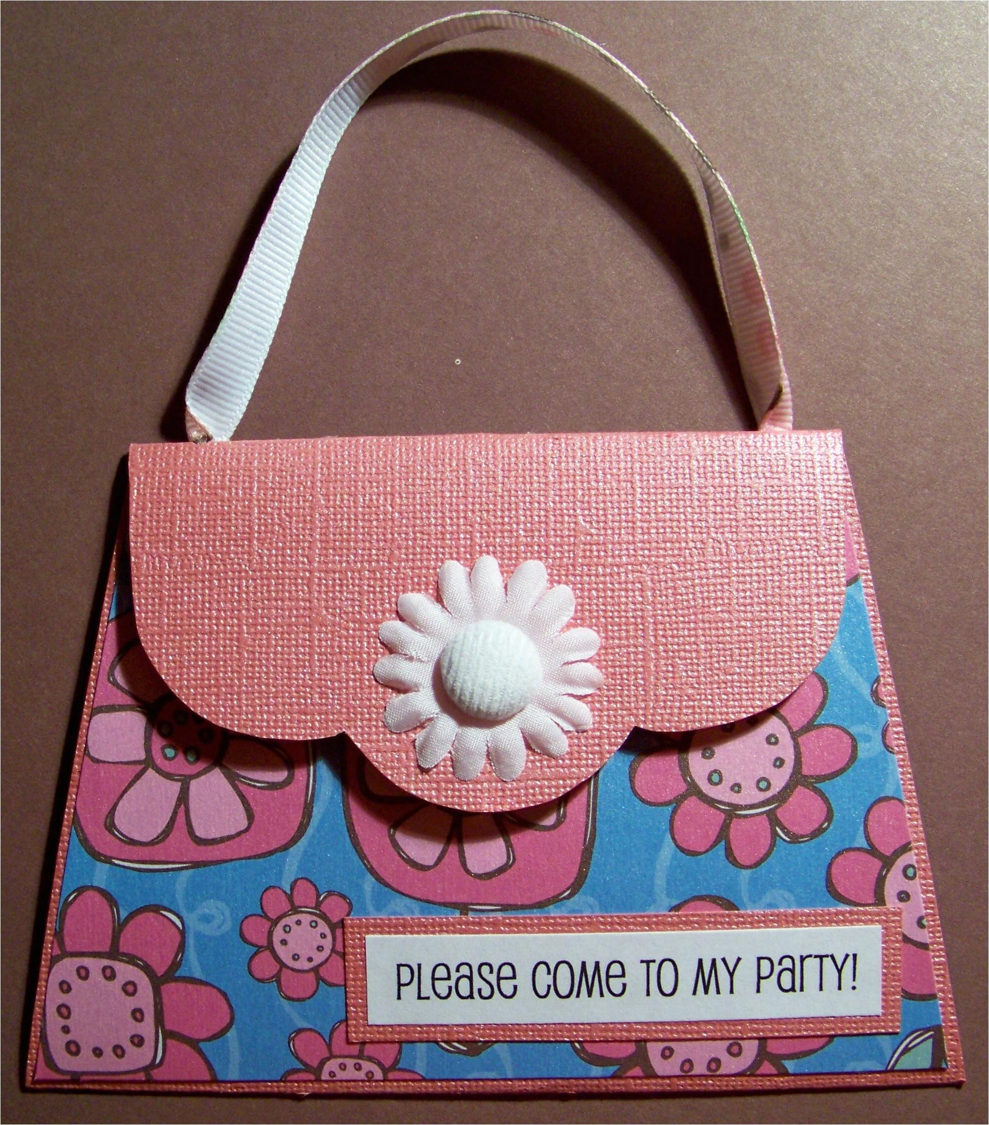 purse invitations for a customer
