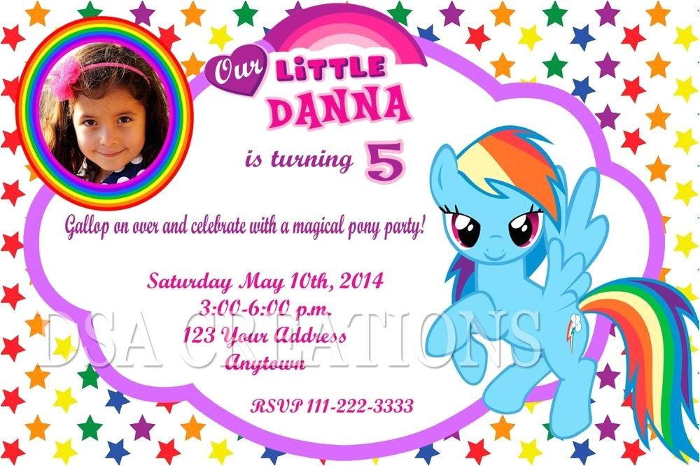 Rainbow Dash Party Invitations 12 My Little Pony Rainbow Dash Birthday Party Invitations