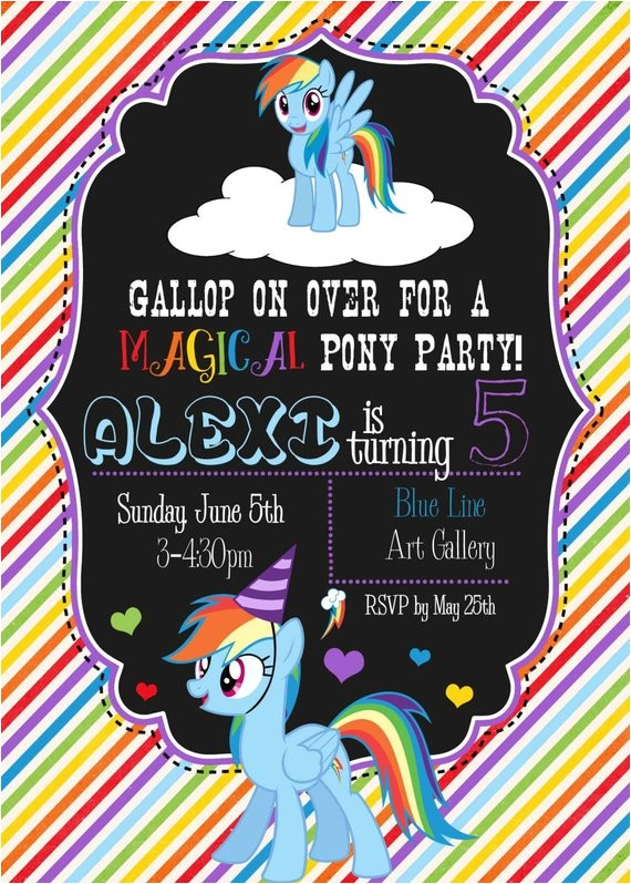 rainbow dash birthday bash invitation