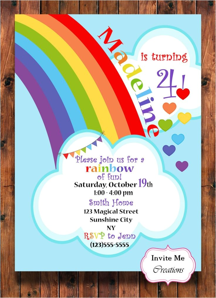 rainbow invitations