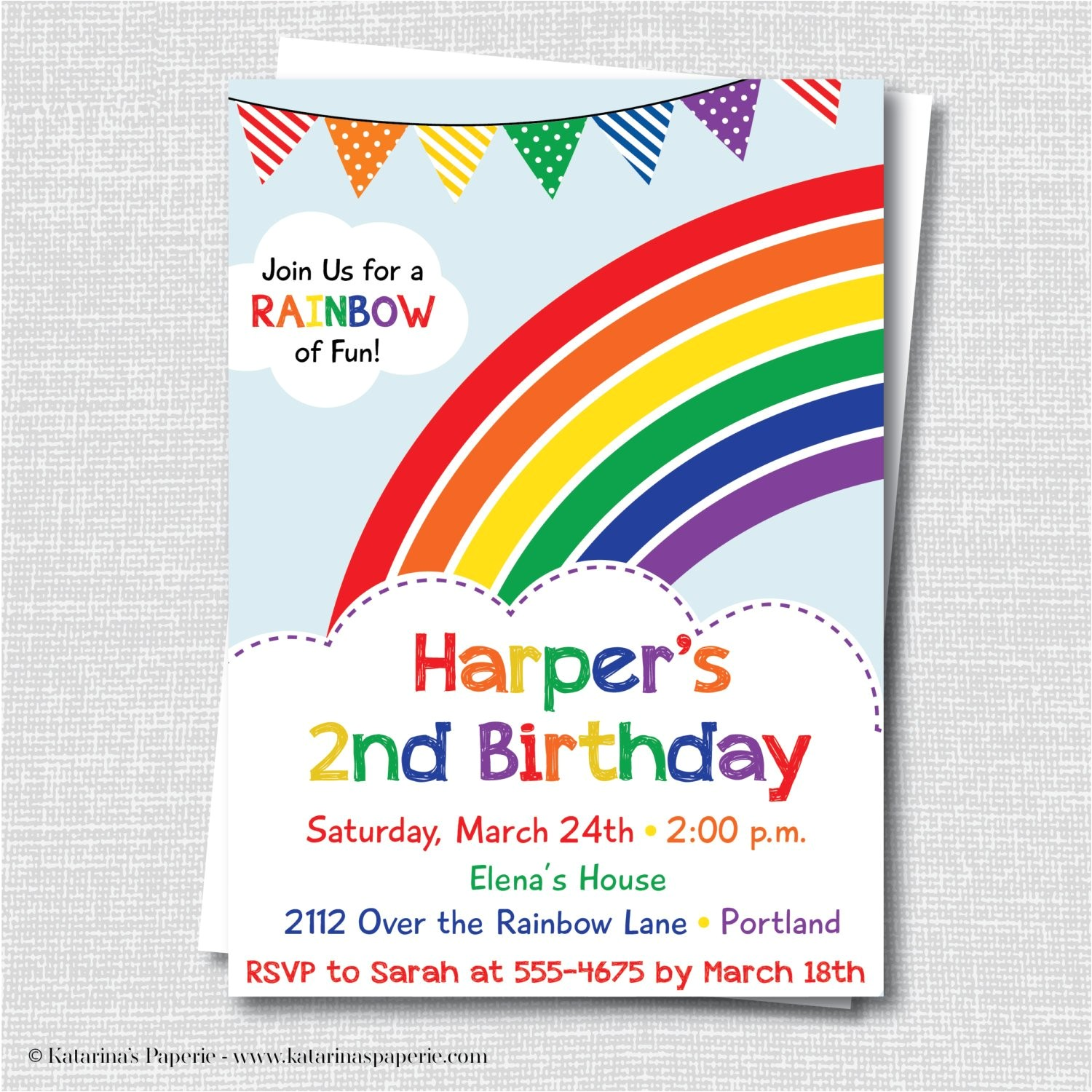 colorful rainbow birthday party