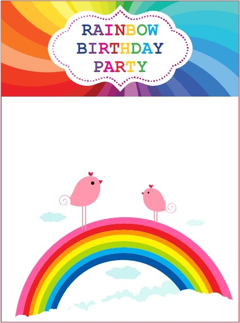 rainbow party invitations