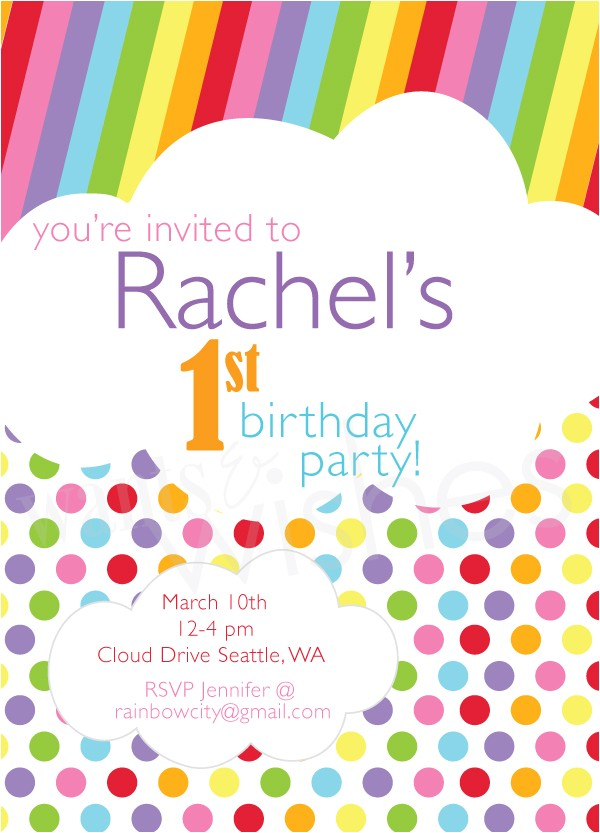 taste rainbow invitation