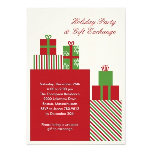 gift exchange holiday party invitation 161298795090284798
