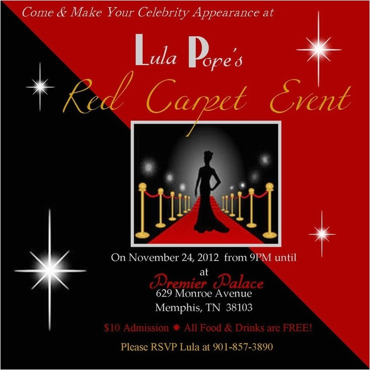 red carpet party invitations