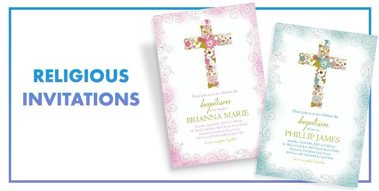custom invitations religious