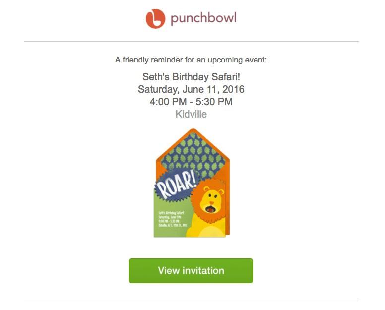 event reminder email marketing