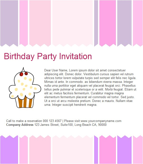 party invitation reminder sample