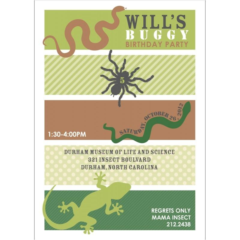 Reptile Birthday Party Invitations Printable Insects and Reptiles Birthday Party Printable Invitation