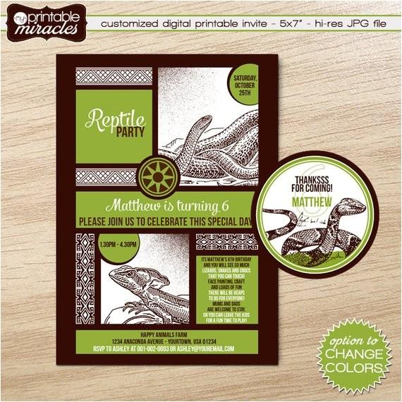 reptile invitation printable reptile birthday invite