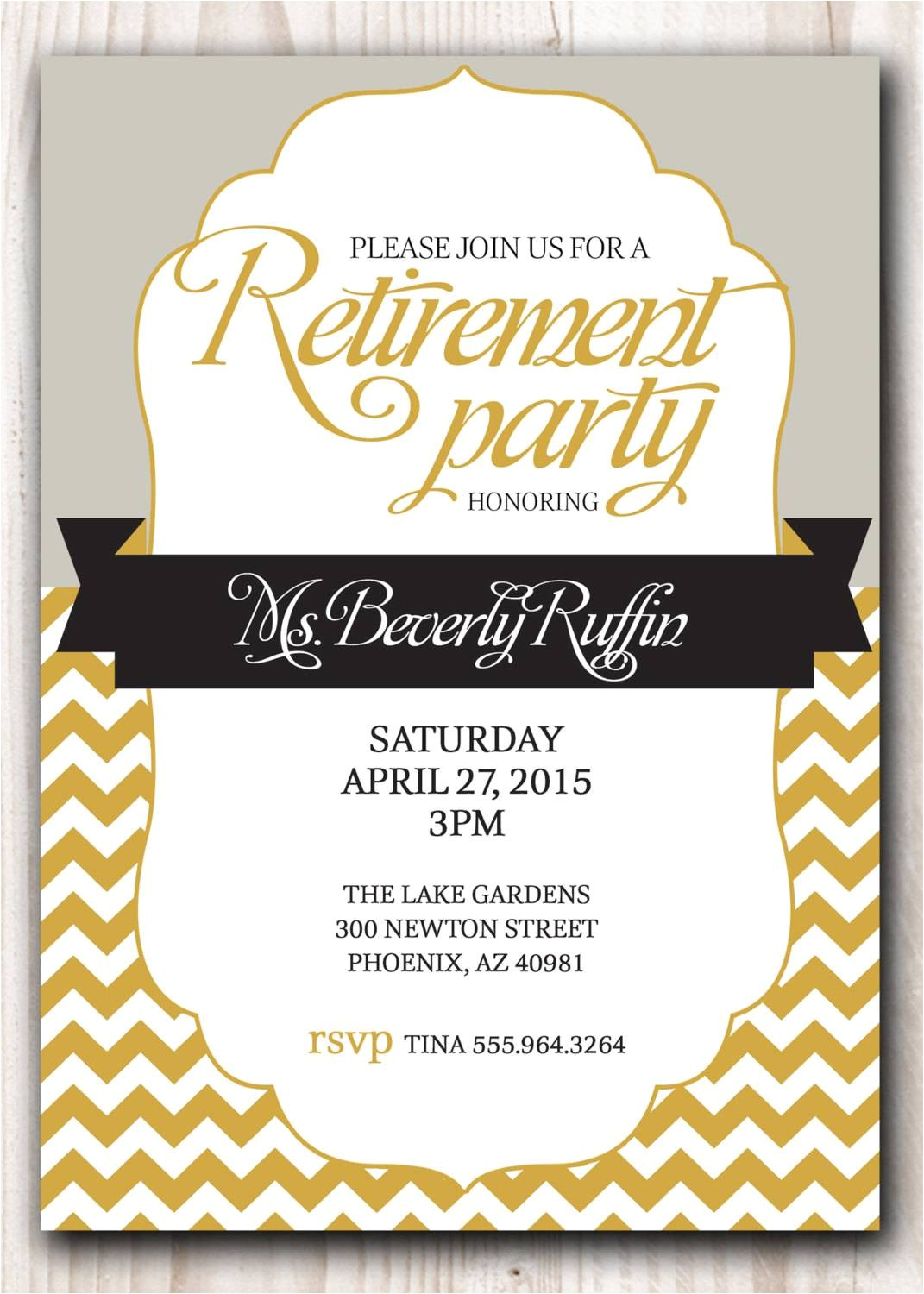 Retirement Party Invite Template Retirement Party Invitation Template Party Invitations