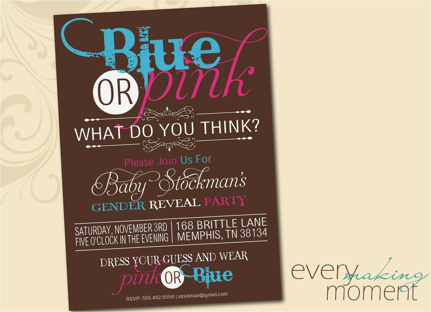 Revealing Party Invitations Gender Reveal Party Invitation Digital Custom Printable