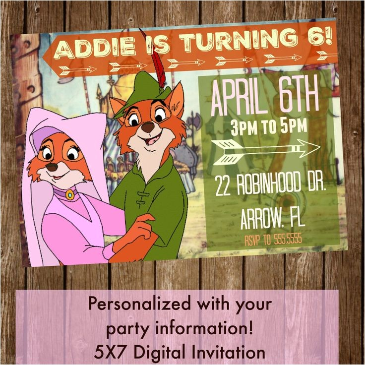 Robin Hood Birthday Party Invitations Les 48 Meilleures Images A Propos De Anniversaire Robin