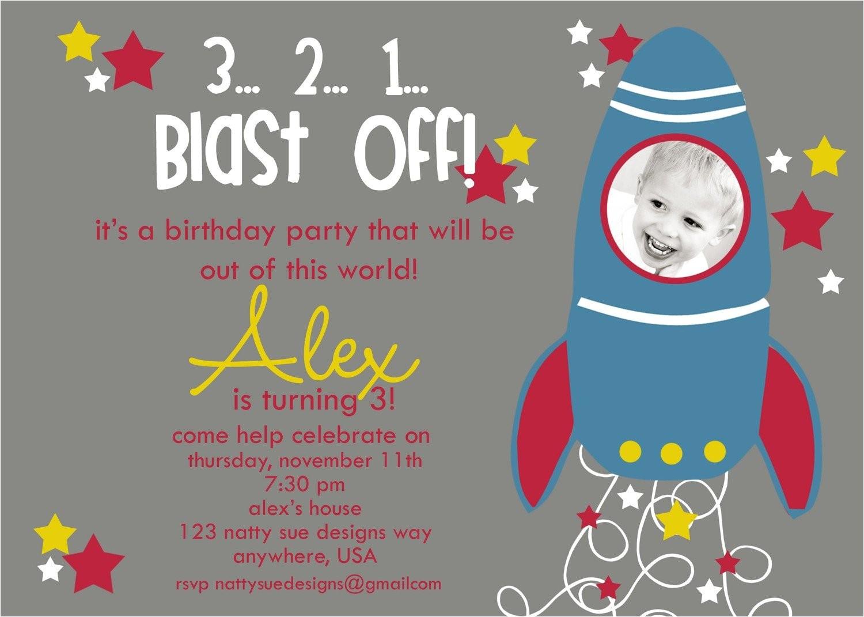 custom rocket ship birthday party