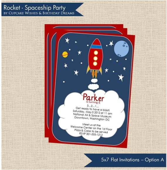 rocket launch space ship childrens party
