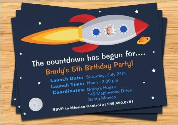 Rocket Ship Birthday Party Invitations Rocket Ship Birthday Party Invitation by eventfulcards