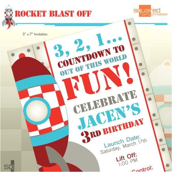 rocket ship spaceship birthday party